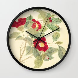 Red flowers , red flowers Wall Clock