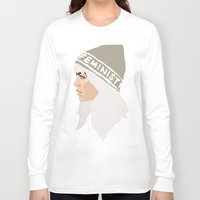 feminist Long Sleeve T-shirts featuring Feminist (Silver) by Anna McKay