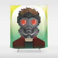starlord Shower Curtains featuring Guardians of the Galaxy - Star-Lord by Casa del Kables