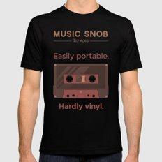 Cassettes. — Music Snob Tip #062 Mens Fitted Tee Black MEDIUM