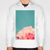 shabby chic Hoodies featuring Shabby Chic Rose Photograph by Scarlett Ella