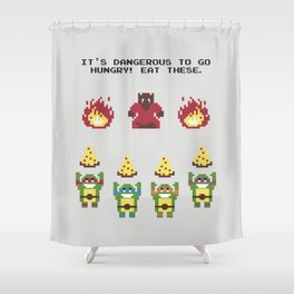 The Legend of Pizza Shower Curtain