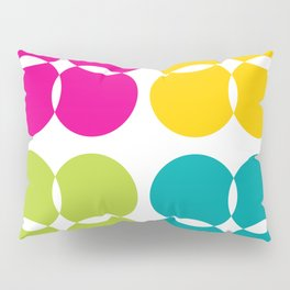 Colorful Bejeweled Circles Pillow Sham