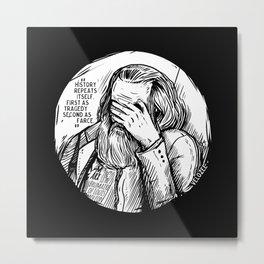 Facepalm Marx Metal Print