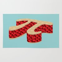 pi Area & Throw Rugs featuring Pi Pie by Rryan
