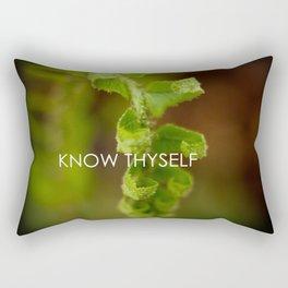 Know Thyself Rectangular Pillow