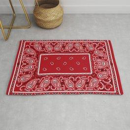 Classic Red Bandana Rug