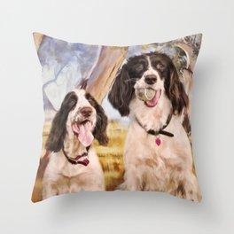 Springer Spaniels Throw Pillow