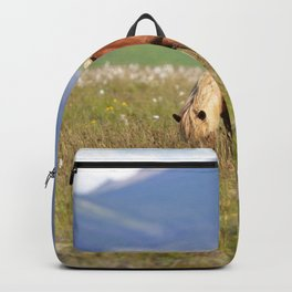 Watercolor Horse 36, Icelandic Pony, Höfn, Iceland, Munchie Mouth Backpack