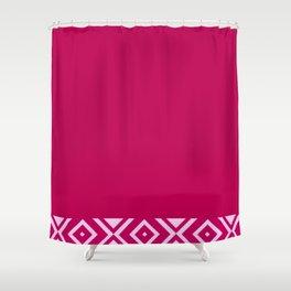Pink Diamonds Shower Curtain