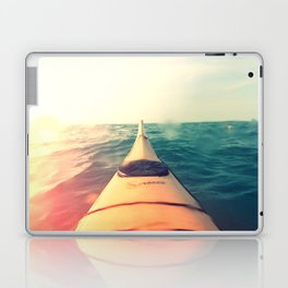 Yellow Kayak in Water Color Nature Photography Laptop & iPad Skin