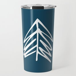 Pacific Northwest Evergreen   In Indigo Travel Mug