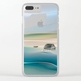 Beach 2 Clear iPhone Case