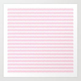 Pink Zigzag Design Art Print