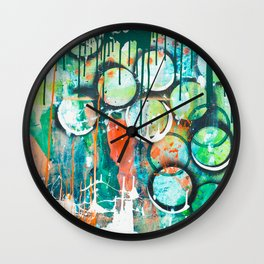 Rainy Green Wall Clock