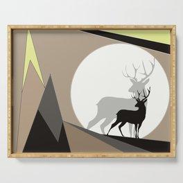 moon deer Serving Tray