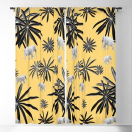 Palm Tree Elephant Jungle Pattern #4 (Kids Collection) #decor #art #society6 Blackout Curtain