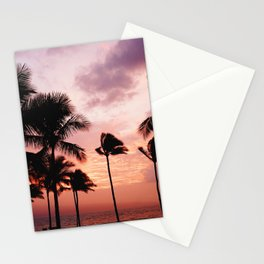 Palm Tree Sunset Stationery Cards