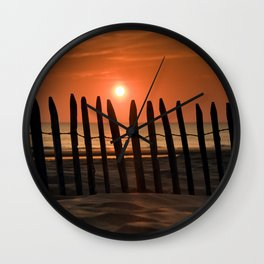 Sunset in the Lowlands Wall Clock
