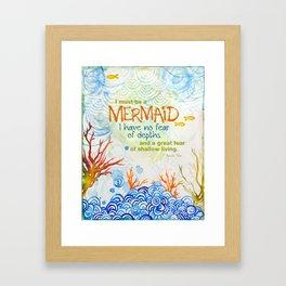 The Depths Framed Art Print
