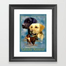 Labrador Retriever Breed Art with Namplate Framed Art Print