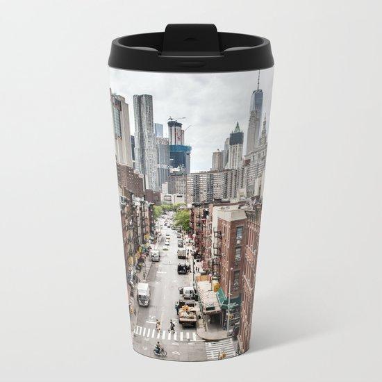 New york City USA Metal Travel Mug
