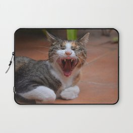 Liza the cat with a big smile Laptop Sleeve