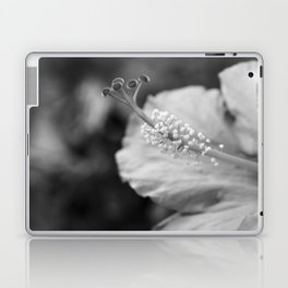 Hybiscus in Black and White Laptop & iPad Skin
