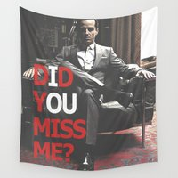 moriarty Wall Tapestries featuring Did You Miss Me? / IOU / Moriarty / II by Earl of Grey