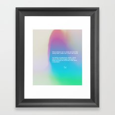 vivid dreams Framed Art Print