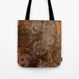 Changing Gear - Steampunk Gears & Cogs Tote Bag