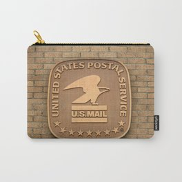 US Mail Bronze Sign Carry-All Pouch