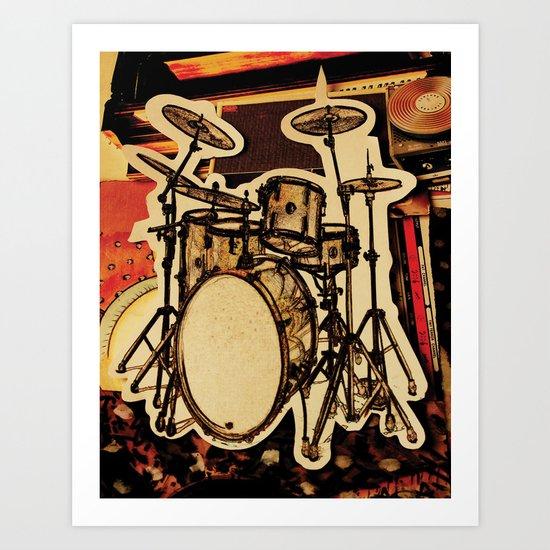 Drumz Art Print