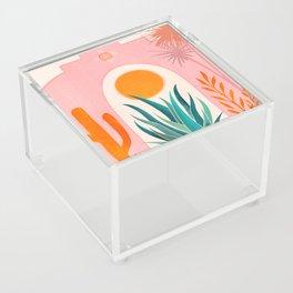 The Day Begins / Desert Garden Landscape Acrylic Box
