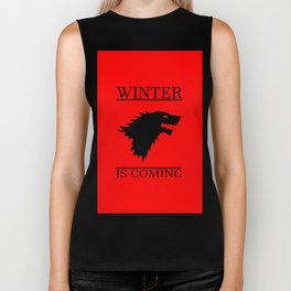winter cool saying t.v quote and banner Biker Tank