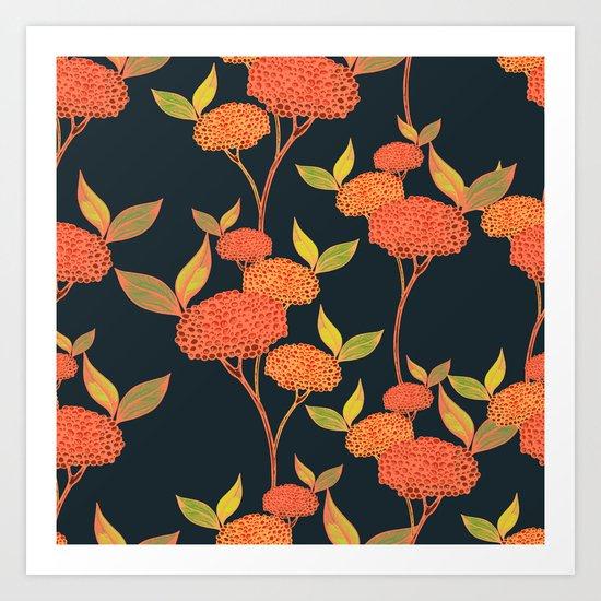Orange berries. Art Print