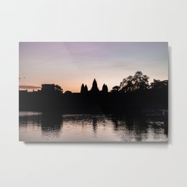 Sunrise at Angkor Wat Temple, Siem Reap, Cambodia | Travel photography | pink wall art | pink photo print Metal Print