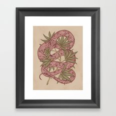 The snake Framed Art Print