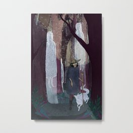 Ghosty Woods Metal Print