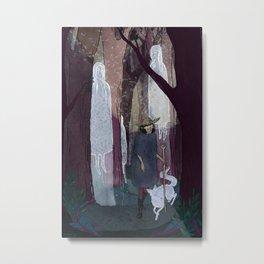 Ghosty Woods Metal Print