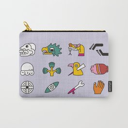 Aztec Writing Carry-All Pouch