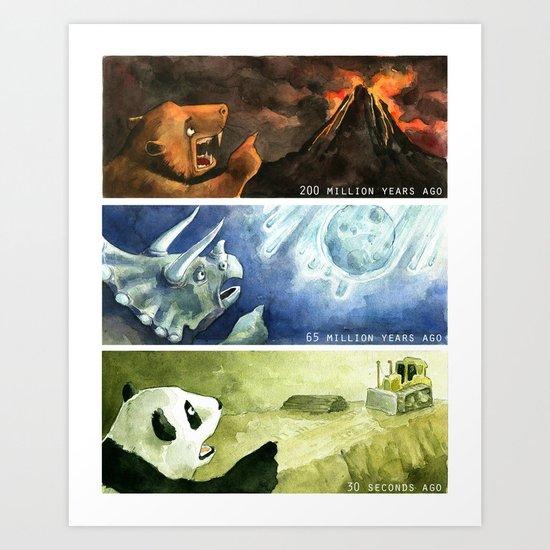 The Mass Extinctions Art Print