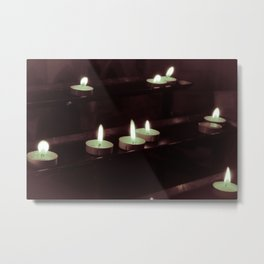 split toning candels Metal Print