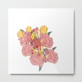 spring flowers with tulips Metal Print