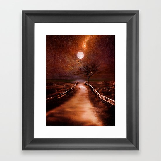 The cosmic touch Framed Art Print