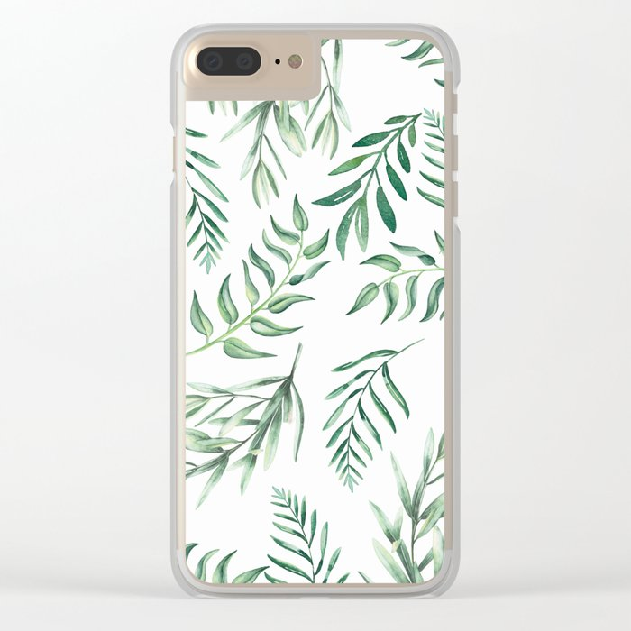 Floating Leaves #society6 #buyart Clear iPhone Case