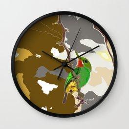 Looking for you Tody bird Wall Clock