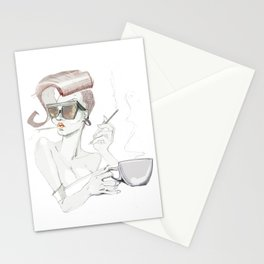 With a cigarette Stationery Cards