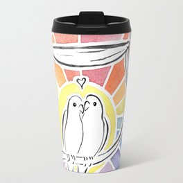 Wedding Love Birds at Sunset Travel Mug