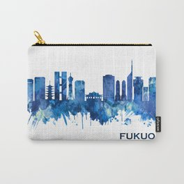Fukuoka Japan Skyline Blue Carry-All Pouch